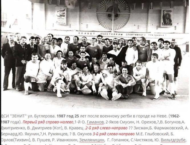 71 год со дня рождения ветерана регби в городе на Неве Валерия В. Кравец. Поздравляем!